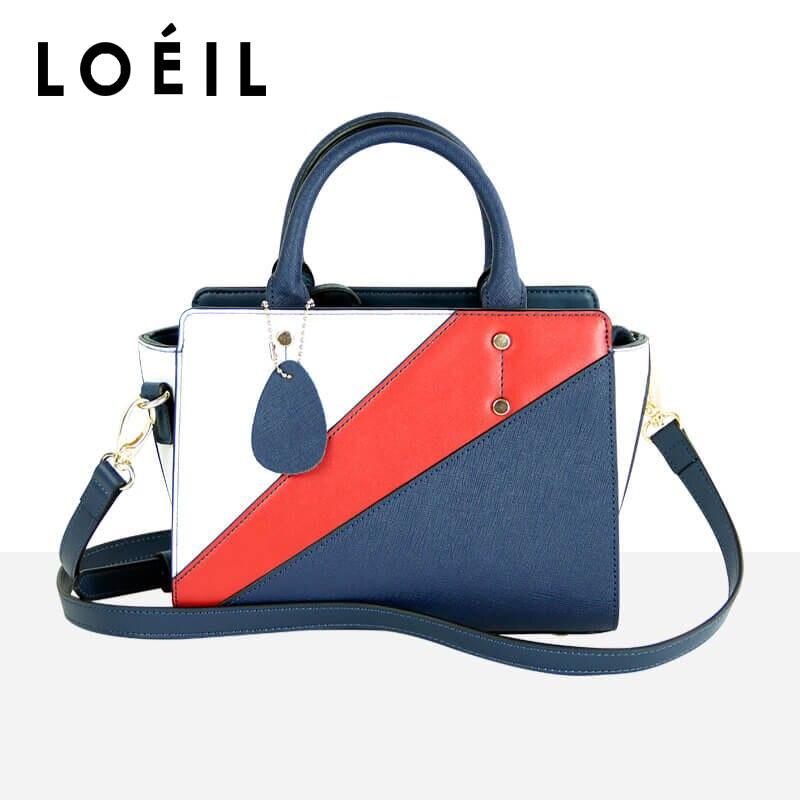 2018 new women's bag European and American fashion trend ladies handbags anti-collision color shoulder Messenger bag