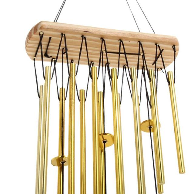 Good New Relaxing Wood Copper Tubes Wind Chimes Bells Bring Silvery Sound To The  Garden Home Decor