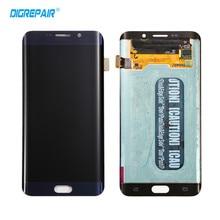 Синий для samsung Galaxy S6 Edge Plus G928 G928A G928T ЖК-дисплей Дисплей Сенсорный экран планшета сборки
