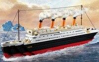 Big Titanic Ship Boat Jack Rose Figures Building Blocks Set Puzzle Toy Hand Casual Toy Model