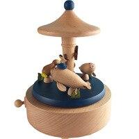 Wood Mediterranean Wind Ocean Amusement Park Dolphin Music Box Music Box Tanabata Valentine's Day 3