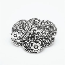 30pcs 17mm ercoat suit metal buttons shirt hand sewing antique silver high quality