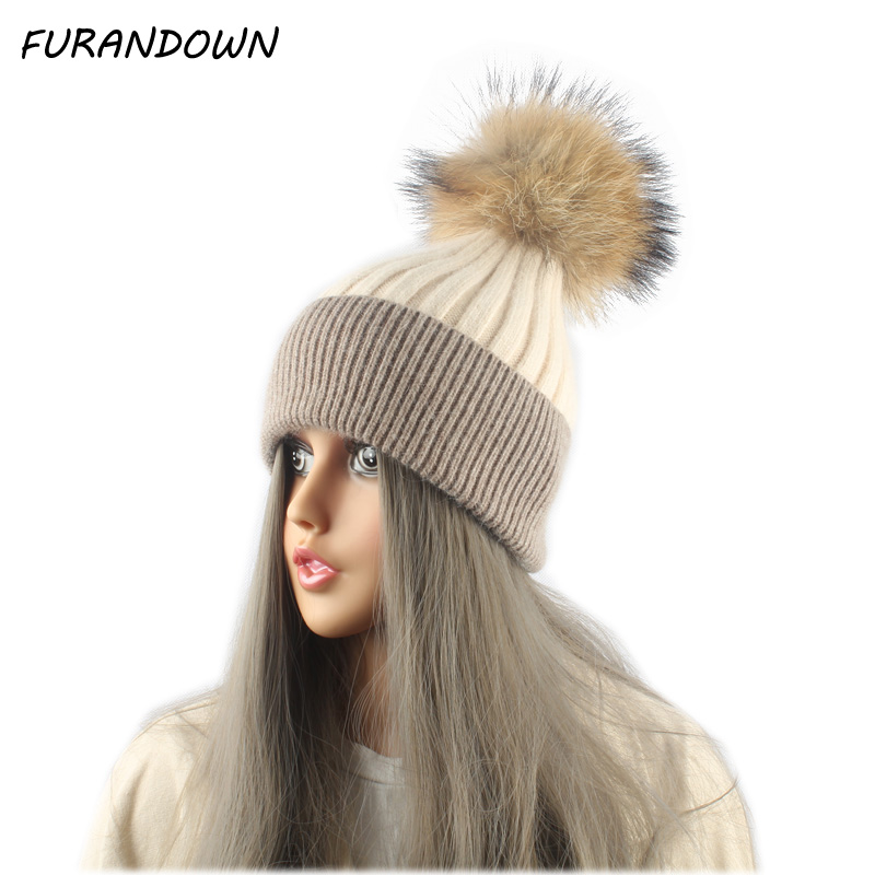 New Winter Caps   Beanie   Hats Women Caps Patchwork Knitted Wool   Skullies     Beanies   girls Gorros