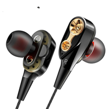 цена New Sport Earphone High Bass Dual Drive Stereo Earphones Lightweight Wired Earbuds 3.5mm For Xiaomi Mi Redmi Note 5 Pro Phone