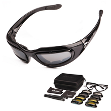 Polarized C5 Army Goggles Military Sunglasses 4 Lens Kit Men's Desert Tactical Glasses Sporting Eyewear ciclismo Cycling Glasses