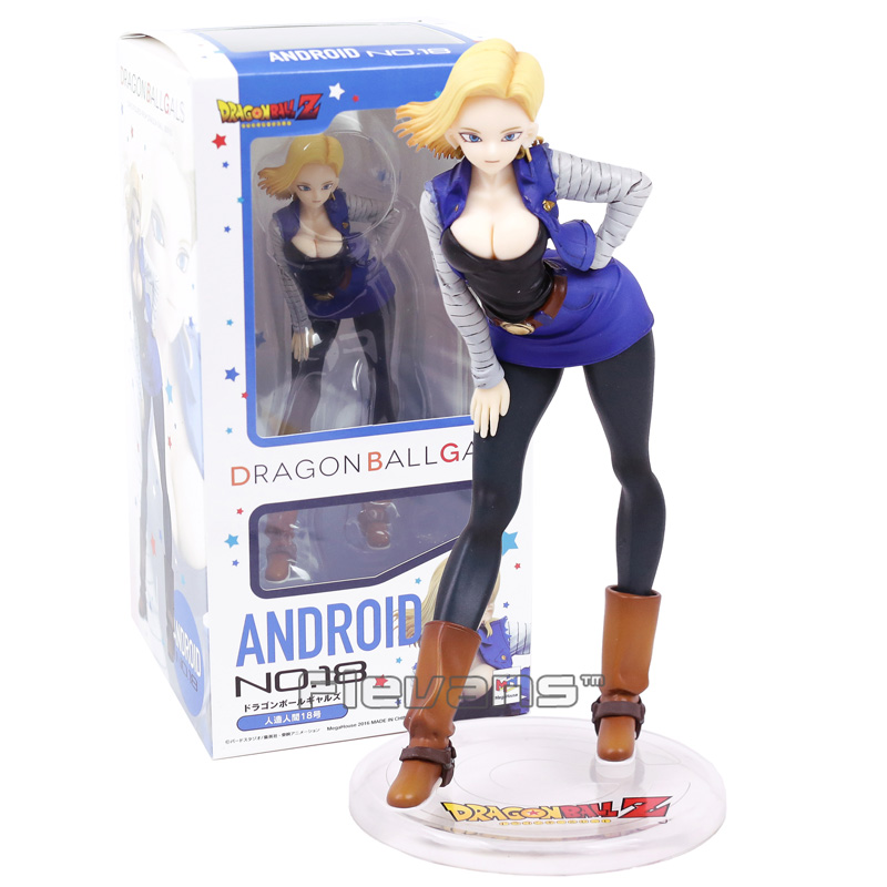 Dragon Ball Z Gals Android NO <font><b>18</b></font> Lazuli <font><b>Sexy</b></font> PVC Figure Collectible Model Toy image