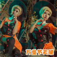 The Game OW Angela Ziegler Cosplay Halloween Skin Hat+Clothes+Shawls+Free Shipping C