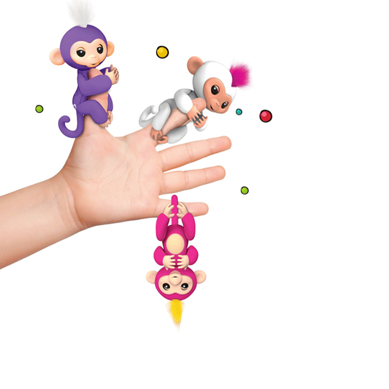 Fingerlings Interactive Baby Monkeys WowWee Smart Toys 6pcs/set Colorful Finger Lings Smart Induction Toy For Kid Christmas Gift titanium alloy fidget spinner handspinner hand finger toy metal rainbow colorful stable christmas toys for children spinners