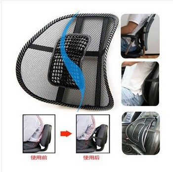 car auto Mesh lumbar support cushion massage breathable