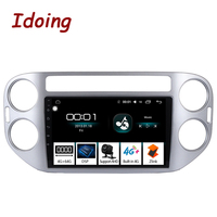 Idoing 94G+64G 2.5D IPS Screen Octa Core 1 Din Car Android 8.1 Radio Multimedia Player Fit Tiguan 2010 2015 DSP GPS Navigation