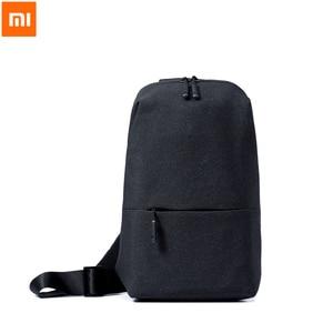 Image 1 - Original Xiaomi sac à dos sac à bandoulière loisirs poitrine Pack petite taille épaule Type unisexe sac à dos sac à bandoulière 4L Polyester