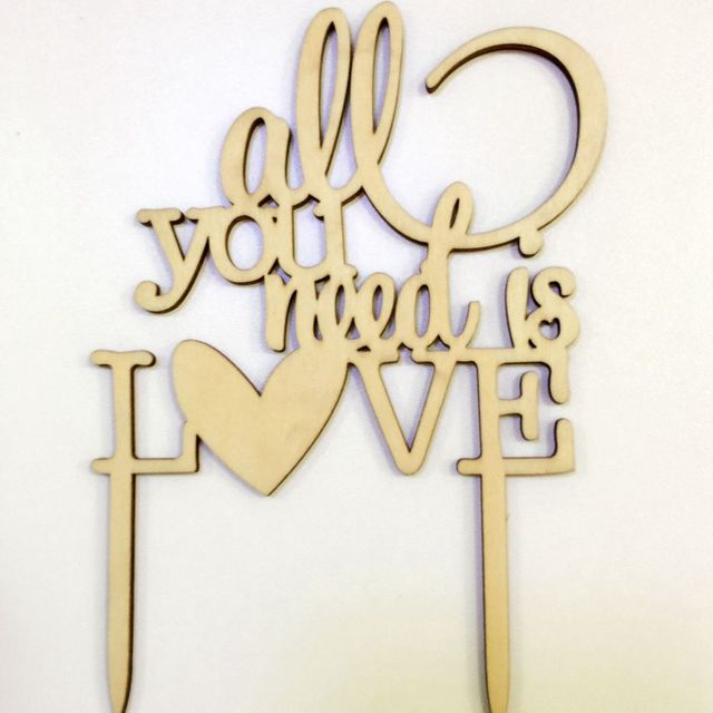 free shipping laser cut funny wedding cake toppers-in Cake ...