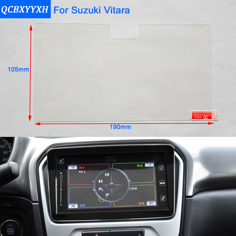 car styling 9 inch gps navigation screen steel protective film for suzuki vitara 2016 2017. Black Bedroom Furniture Sets. Home Design Ideas
