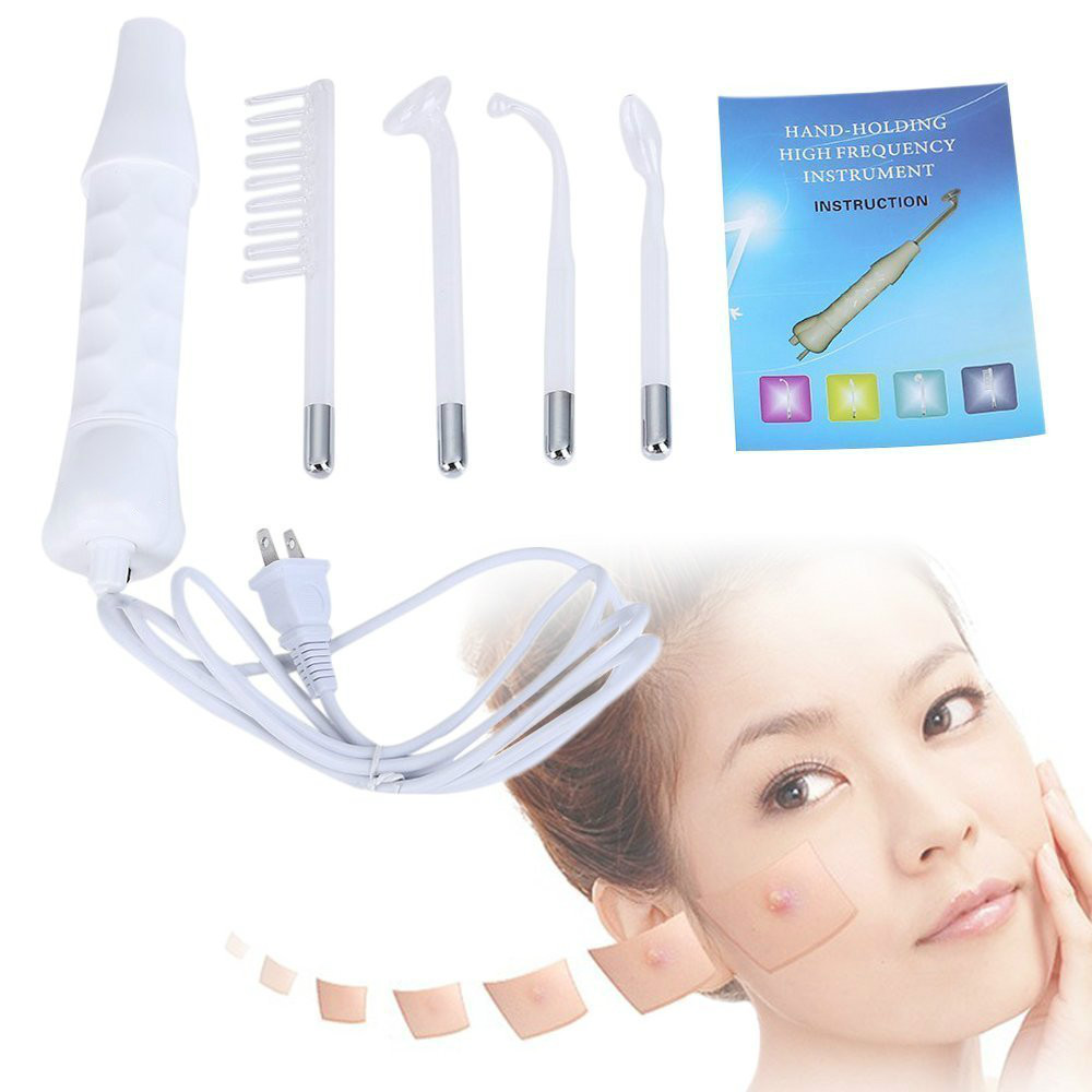 High Frequency Electrode Glass Tube Electrotherapy  Skin Care Facial Spa Salon Beauty Acne Remover high frequency electrotherapy instrument massage comb acne spa hair care