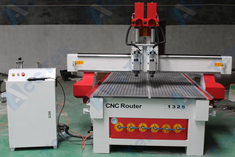 Economic Tool Changers Cnc Machine 1325 Two Heads Cnc Router