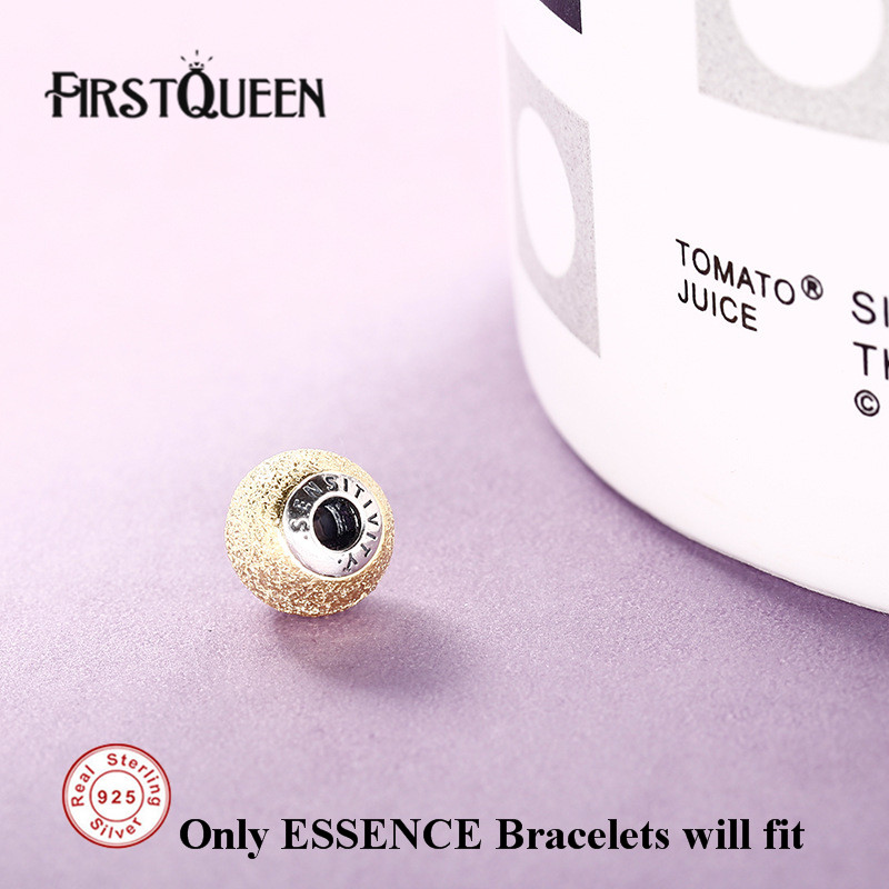 FirstQueen Pure 925 Silver Sensitivity Brand Bead Fit Charm Essence Bracelet Original DIY For Jewery Making Fine Jewelry