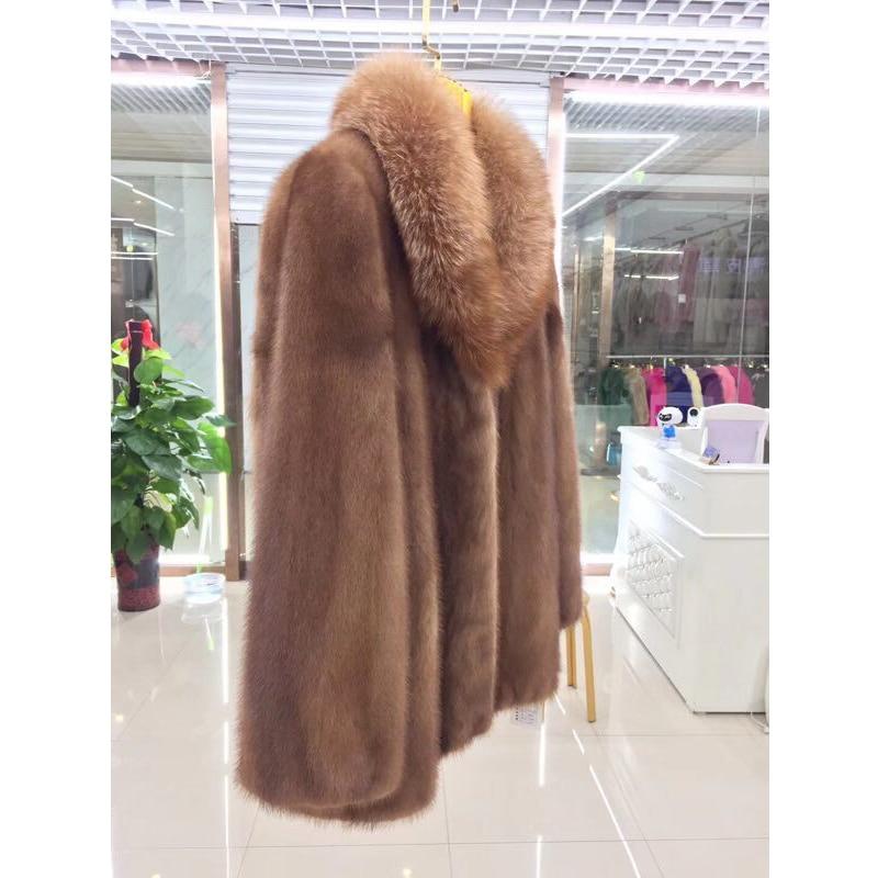 Survêtement Chaud Femmes De Bffur Manteau D'hiver Nutural Color Naturel Réel Pour Véritable Vison Femme Veste Fourrure q8pv8B