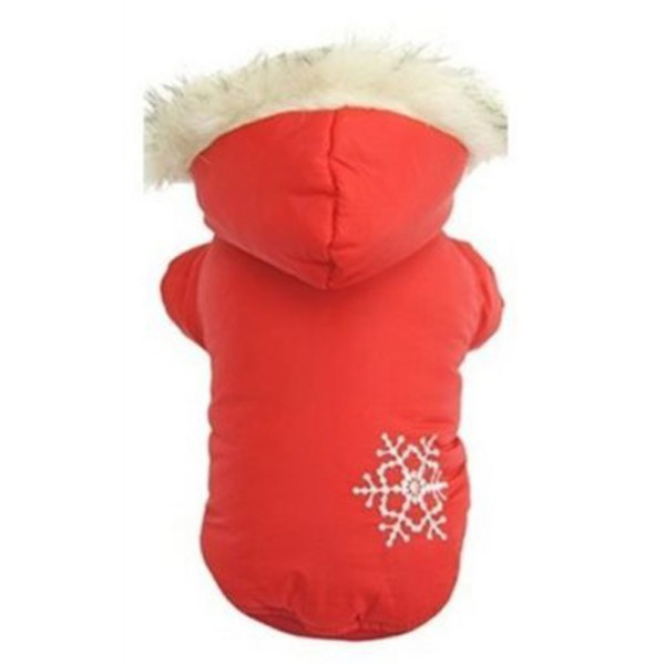 Hot Sales Pet Clothes Puppy Dog Winter Warm Snowflake Both Sides Wear Hoodie Coat Outwear Large