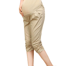 Summer Maternity Pants Comfy Gravida Clothing Knee-Length Pants Pregnancy Maternity Clothes for Pregnant Women Belly Pants