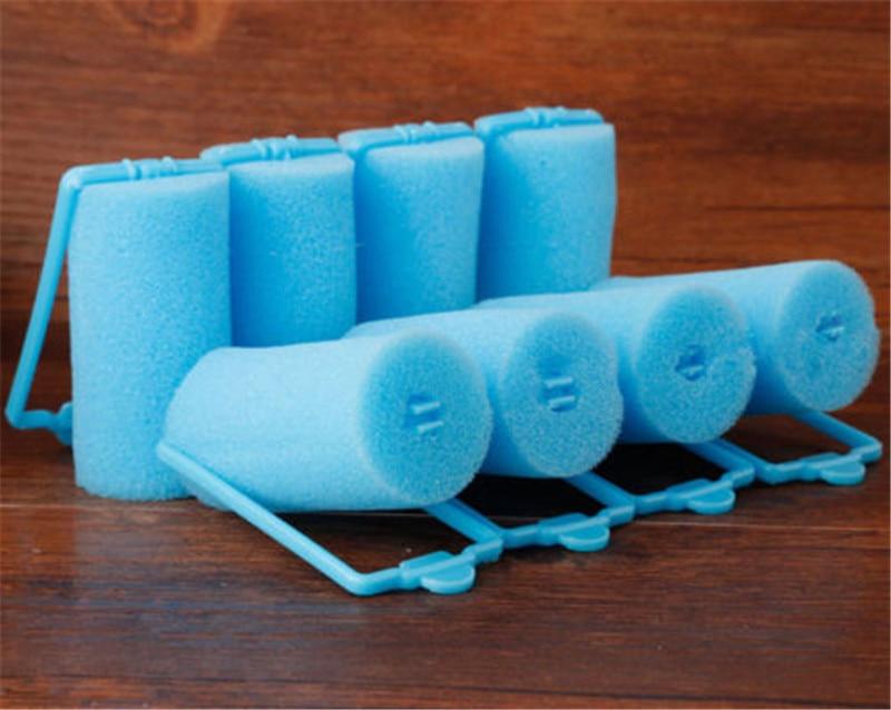 10PCS/Pack Sponge Roll Curler New Fashion Sleeping Bendy Hair Curlers Sponge Hair Roller Large Pear Hair Tool Color Random