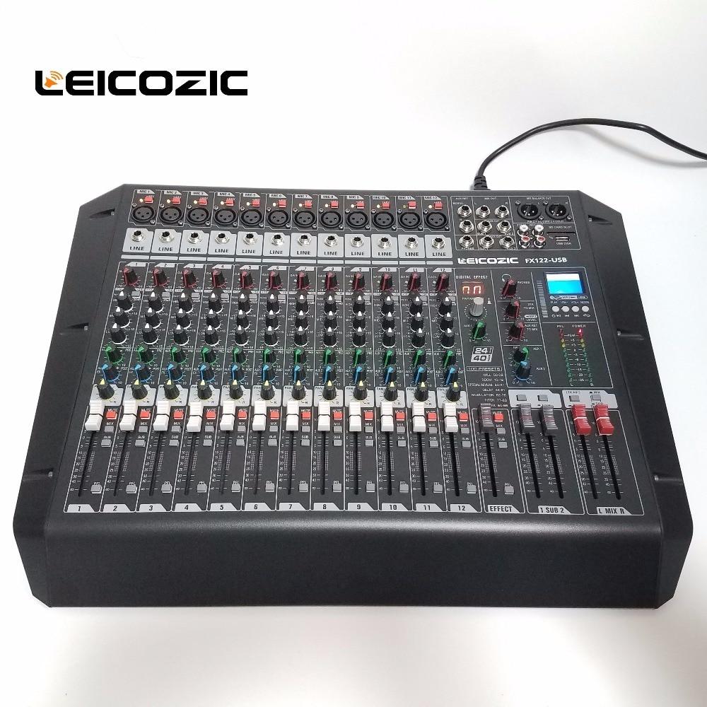 Tragbares Audio & Video Angemessen Leicozic Audio Mixer Fx122-usb Rack Digital Mixer Dsp Mp3-player Mit Usb/sd Card Jack Audio Digitalen Prozessor Mixer Dj