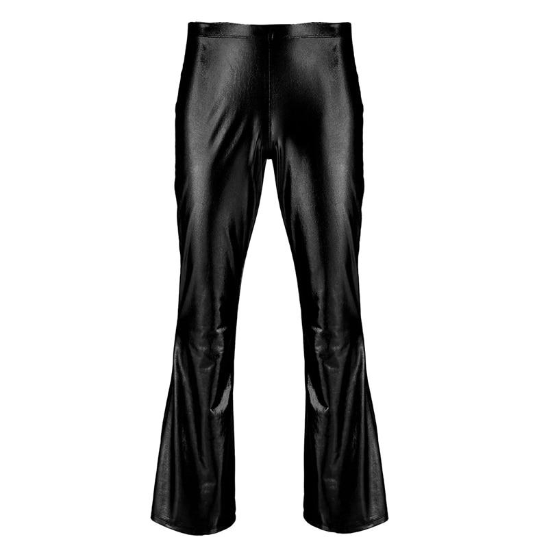 Yizyif calças curtas masculinas, metálicas brilhantes, fundo
