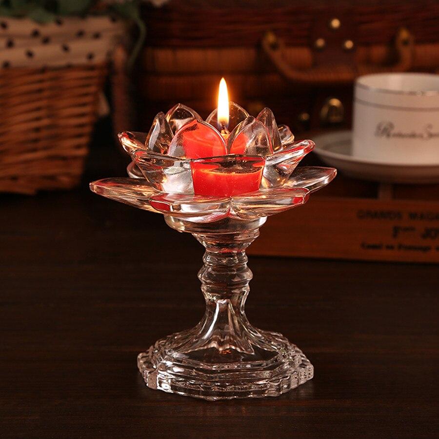 럭셔리 투명 크리스탈 꽃 소형 풍수 유리 연꽃 장식품 홈 장식 액세서리