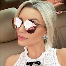 MOLGIRL New Fashion Women Sunglasses Alloy Frame Brand Design Women Reflective Color Film Lens Hot Men Glasses Oculos De Sol