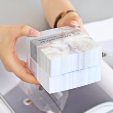 400sheet / pc / pack белый мрамор квадратная записная книжка липкая записка post it for school offce принадлежности канцелярские оптом