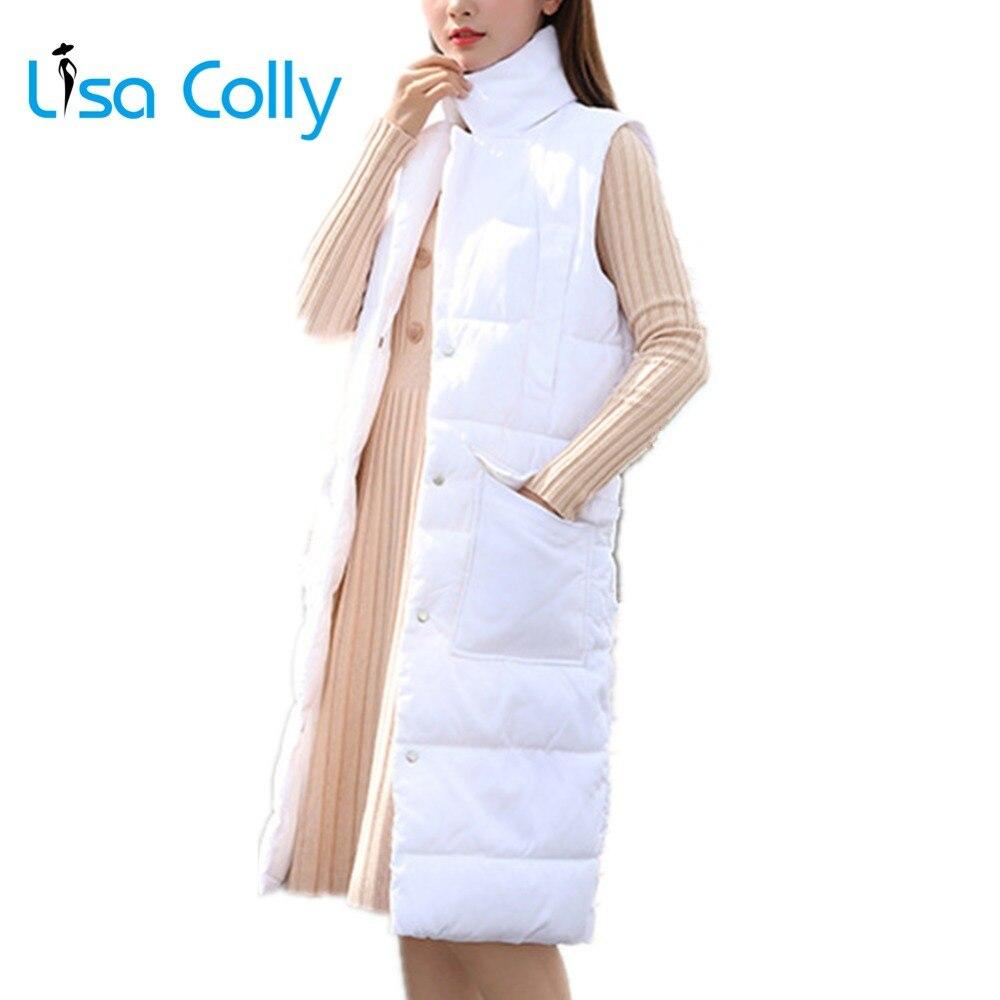 Lisa Colly 2018 New winter women Cotton coat   Parkas   Overcoat thicken long jacket Coat Women warm Slim Snow outerwear   parka
