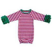 Детское первое персонализированное Новогоднее платье пижамы для брата и сестры, для мальчиков и девочек, гофрированный наряд для новорожденных девочек, подарок для сна