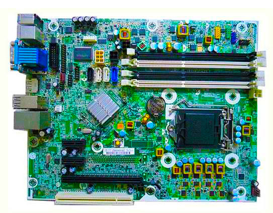 ФОТО High quality 6300 Pro SFF system Motherboard for 657239-001 656961-001 chipset Q75 LGA 1155 100% tested perfect quality
