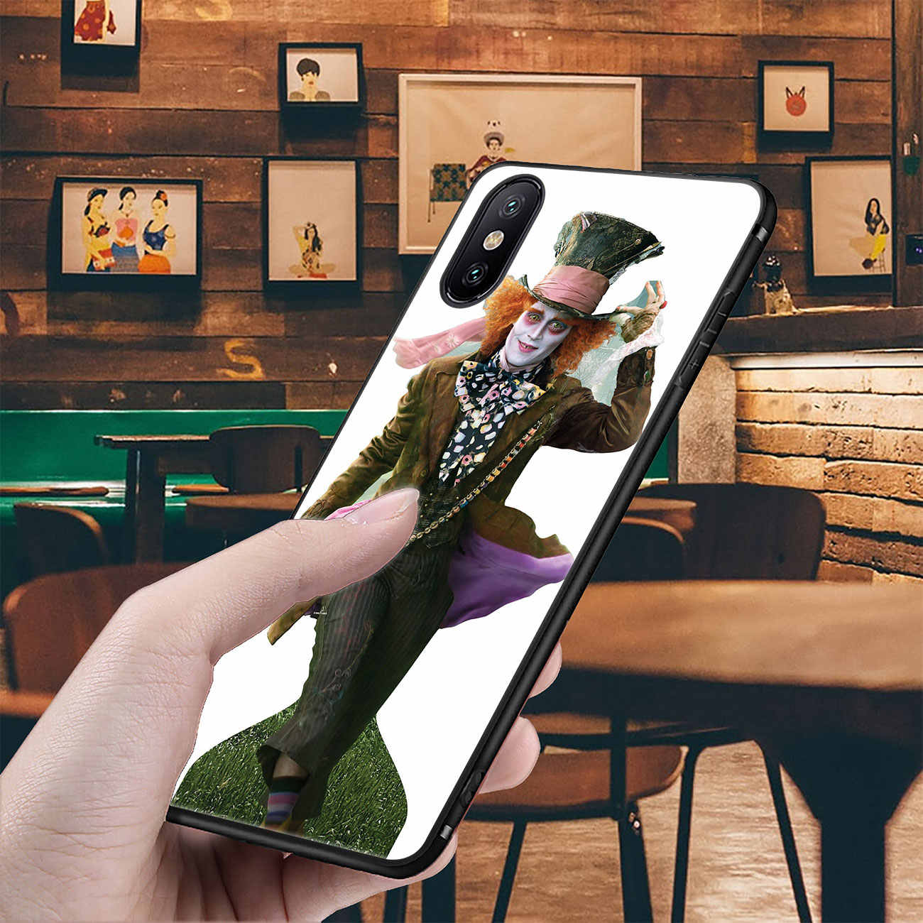 YIMAOC johnny depp ซิลิโคนสำหรับ iPhone 11 Pro XS Max XR X 6 6S 7 8 plus 5 5S SE 10 TPU ฝาครอบดอกไม้สีดำ