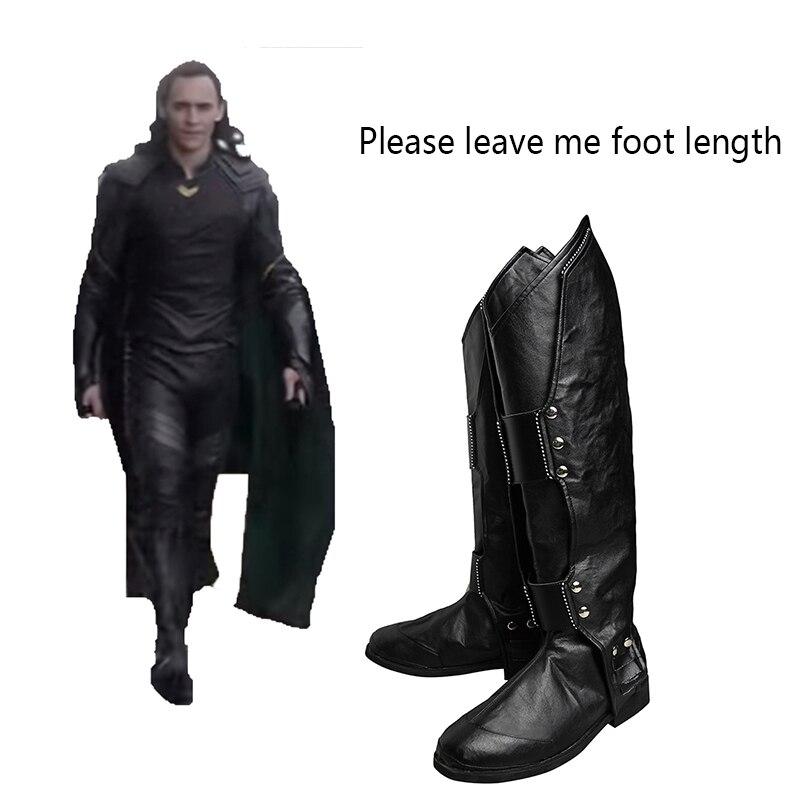 Thor Ragnarok Cosplay Shoes Superhero Loki Laufeyson Cosplay Boots Adult Men Movie Hero Cosplay Costume Props