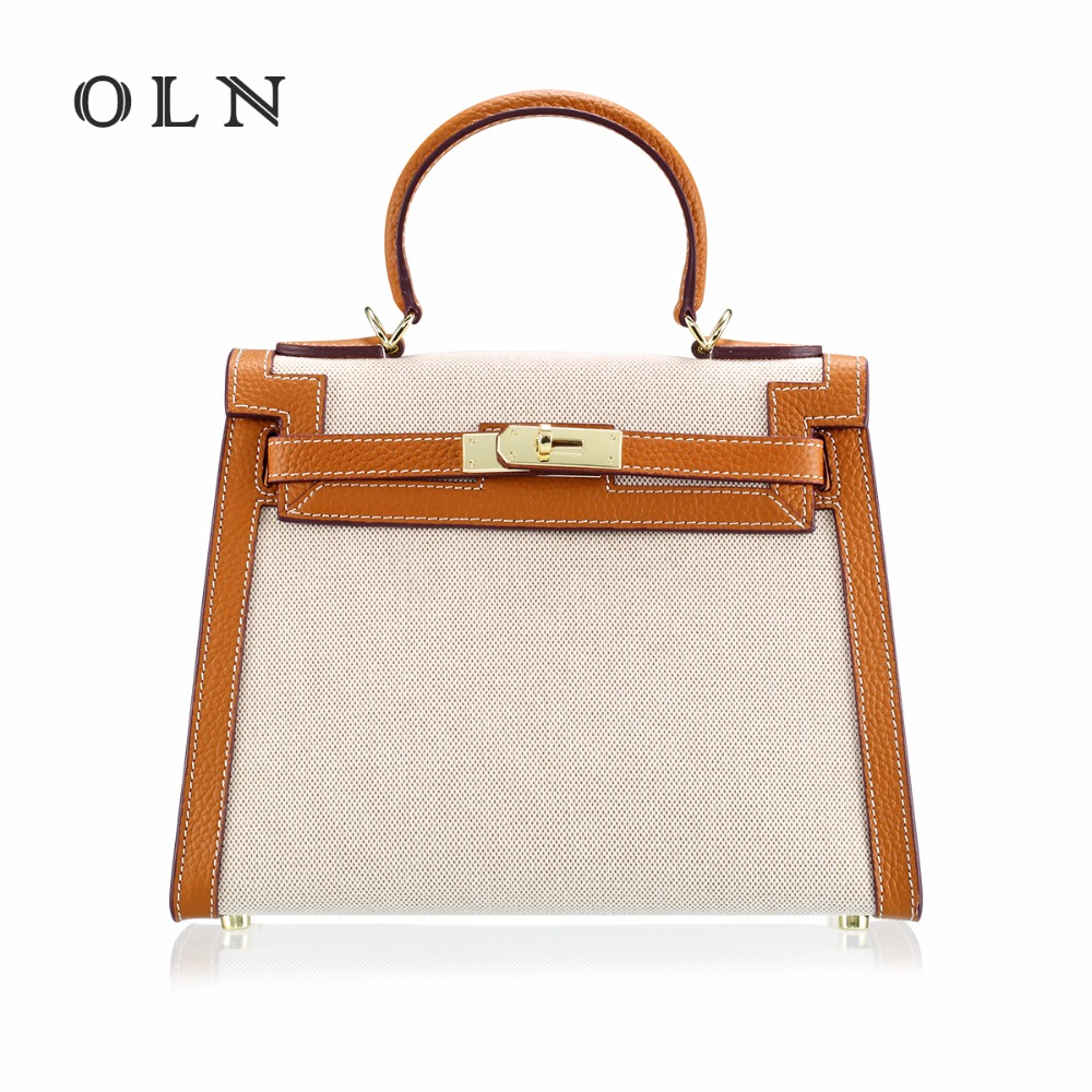 OLN Handbags Women Messenger Bags 100%Genuine Leather Women Bags Retro Handbags Famous Brand Fashion Casual Ladies Shoulder bag 2017 new fashion women messenger bags pu leather women s shoulder bag crossbody bags casual famous brand popular ladies handbags