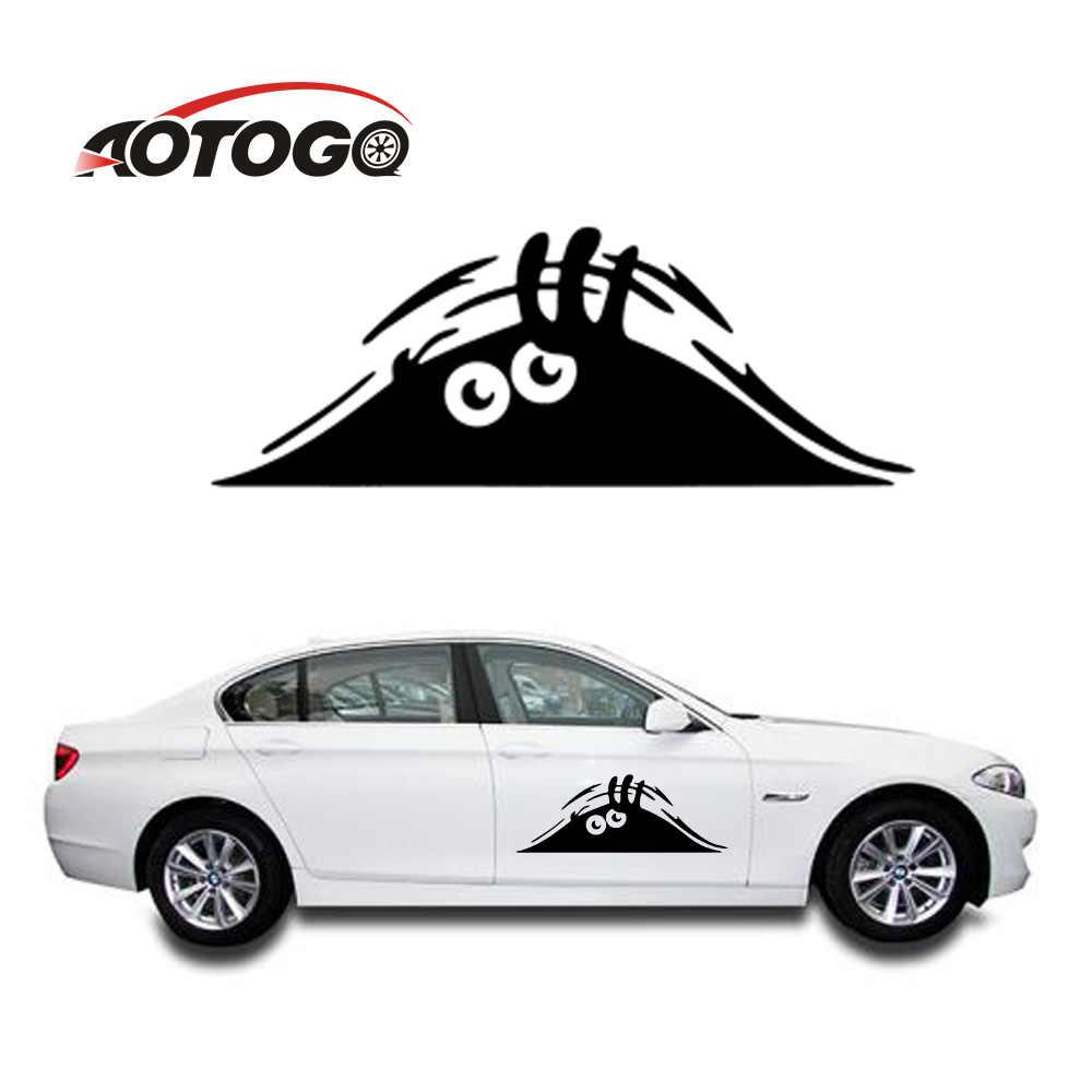 1 pieza Auto coche monstruo pegatinas paredes ventanas pegatina mirilla estilo divertido coche pegatinas para accesorios de diseño de coche