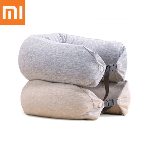 Original Xiaomi 8H U Shape Memory Foam Neck Pillow Antibacterial Portable Travel 8H Eyes Mask Cushion Lunch Break Pillows