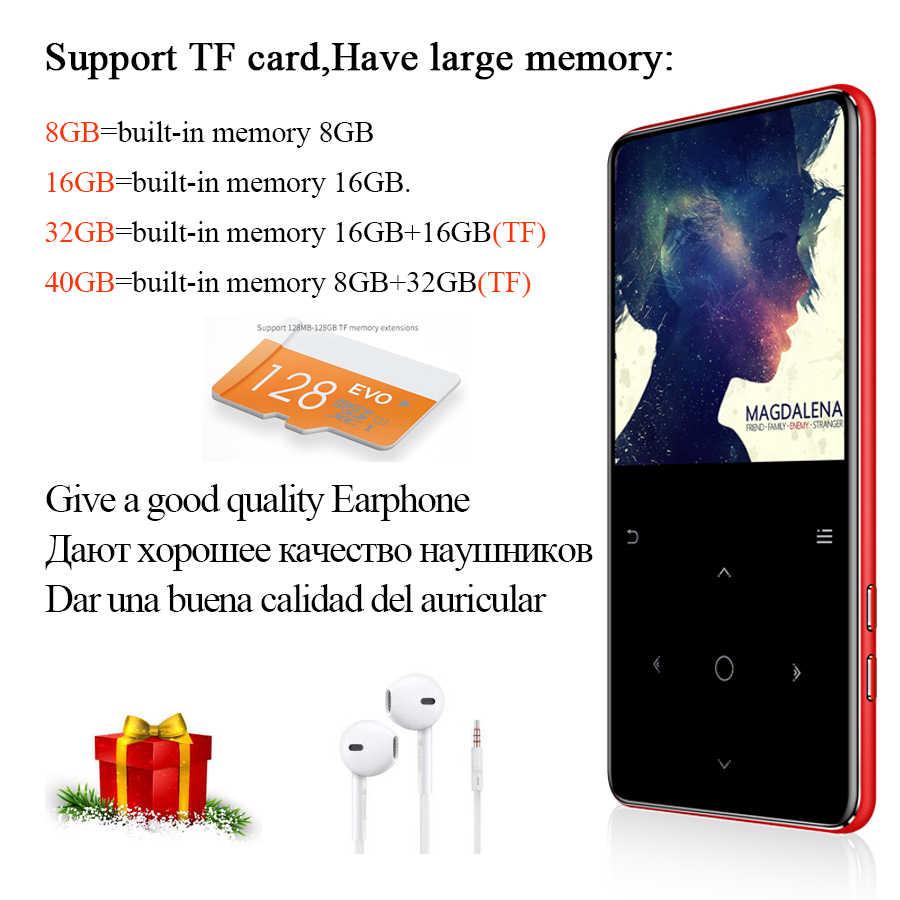 MP4 Nghe Bluetooth 4.2 Với Loa Tai Nghe Chụp Tai Sách Điện Tử FM Radio Video MP4 Nhạc HIFI Slim MP 4 Máy Nghe Nhạc 8GB 16GB 32GB 40GB