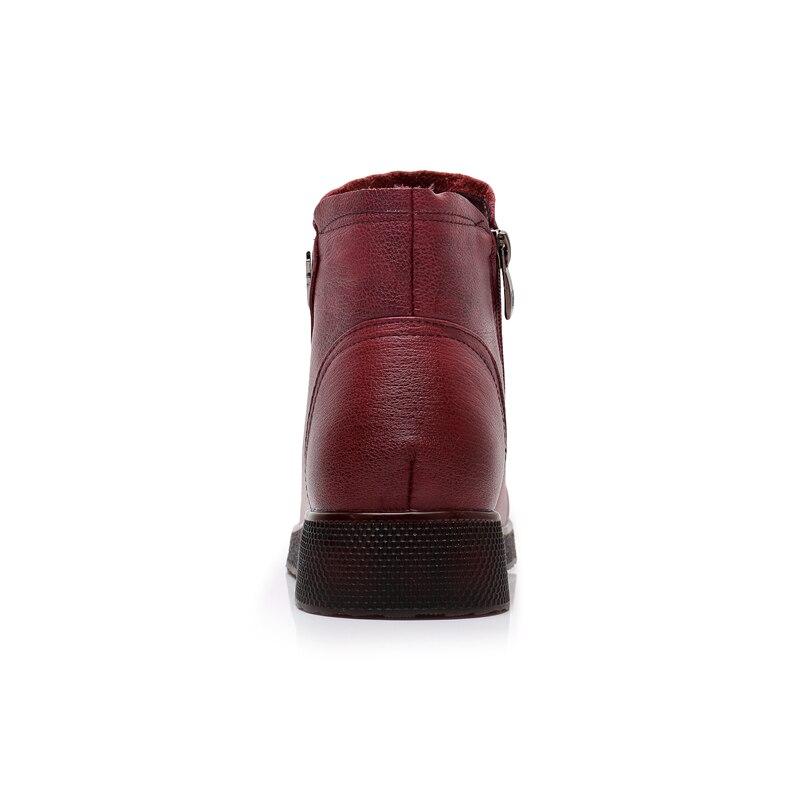 Las De Bootse302 Mujeres Genuino Peluche Cuero Tobillo Mano Timetang vino Botas  Zapatos 2018 Mujer Cómodos Vintage ... 7fd732e64aae