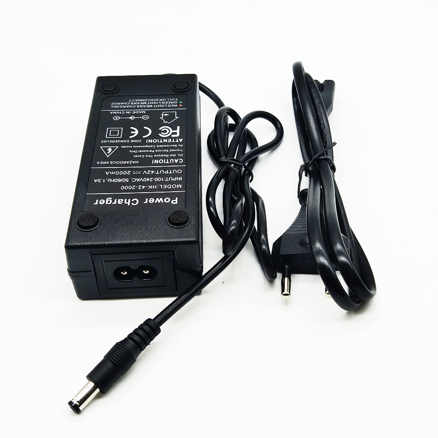 36V 2A battery charger 42V 2A Charger Input 100-240 VAC Lithium Li-ion Li-poly Charger For 10Series 36V Electric Bike