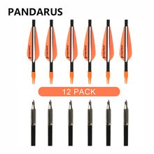 PANDARUS 6/12/24 PCS/lot Fiberglass arrows 30 Inches Spine 700 Bow Arrows shotting Archery arrow feather plastic