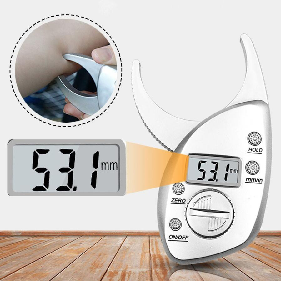 2018 Digital Electronic Body Fat Caliper Monitor Measure Fitness Muscle Tester M28