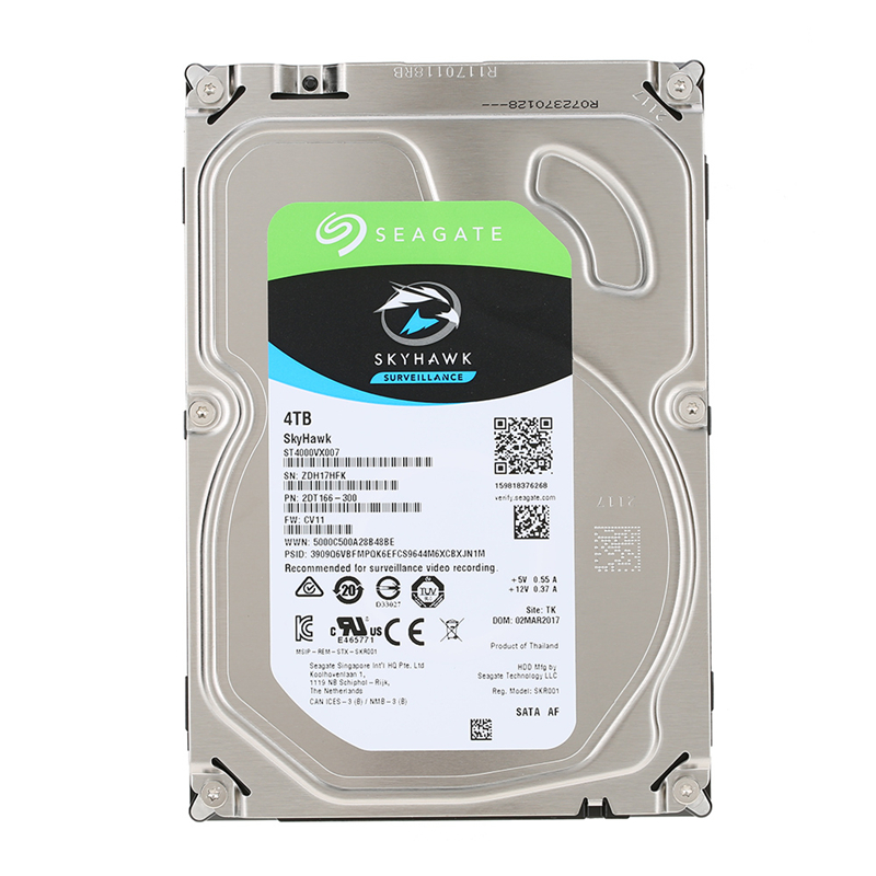 Seagate 4TB Video Surveillance HDD Internal Hard Disk Drive 5900 RPM SATA 6Gb/s 3.5-inch 64MB Cache HDD For Security ST4000VX007 4tb video surveillance hdd internal hard disk drive 7200 rpm sata 3 5 64mb cache for dvr nvr cctv camera free shipping