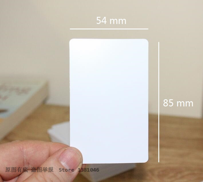 Size 85*54mm Acetate Sheet PVC Plain White Plastic ID Cards 0.35mm Thickness 10/50/100pcs
