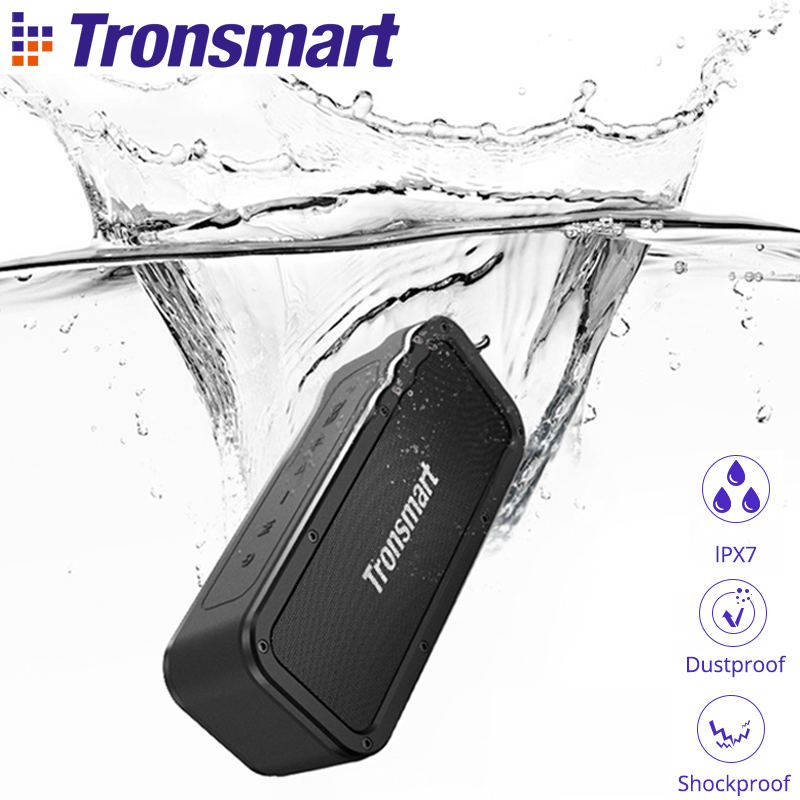 Tronsmart Force Bluetooth Speaker 40W Portable Speaker IPX7 Waterproof 15H Playtime with Subwoofer NFC TWS Voice