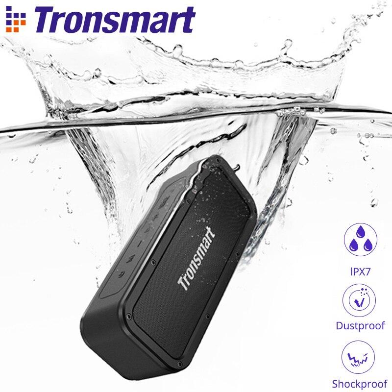Tronsmart Kraft Bluetooth Lautsprecher 40 W Tragbare Lautsprecher IPX7 Wasserdichte TWS Lautsprecher 15 H Spielzeit mit Subwoofer, NFC