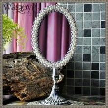 Винтажное платье принцессы Серебристые кулоны из сплава цинка с металлической настольное косметическое зеркало с декоративной жемчужной отделкой письменный прибор 468A