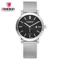 Original CHENXI Mens Watch Brand Date Steel Sport Wristwatch Relojes Dress Men Casual Quartz Wrist Watches
