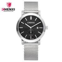 Original CHENXI Mens Watch Brand Date Steel Sport Wristwatch Relojes Dress Men Casual Quartz Wrist Watches