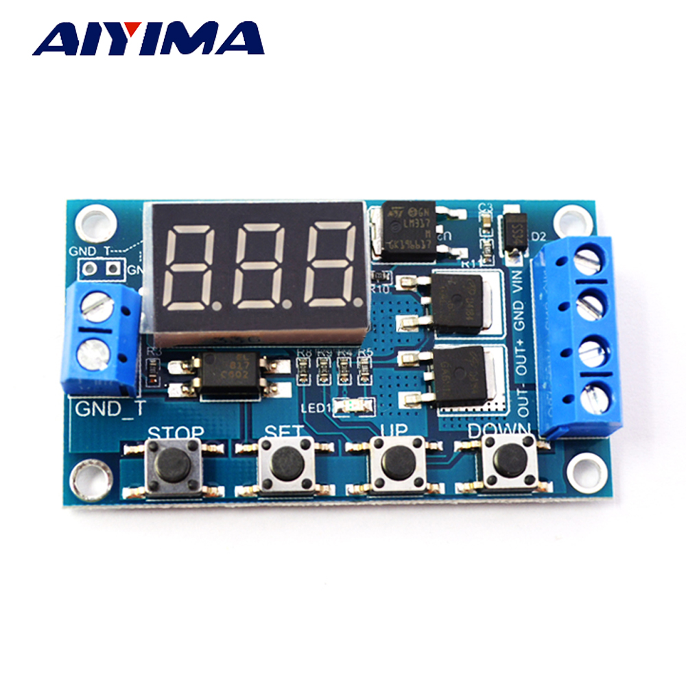 Aiyima New DC 12V/24V Time Delay Relay Solid State Relay SSR Timer Switch Motor Mini Bump LED Lights Time Controller dc 12v led display digital delay timer control switch module plc automation new 828 promotion